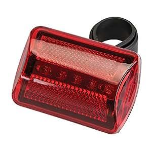 Silverline 794545 Fahrradlampe, 5 LEDs Rot