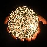 s.LUCE Mesh LED Drahtkugel Tischleuchte Ø 15 cm Tischlampe Effektlampe Nachttischlampe Licht & Schatten Effekt