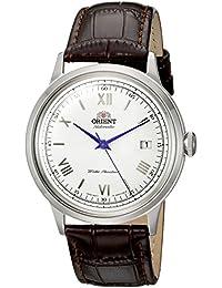 Orient de hombre de 2ª Gen Bambino ver. 2'japonés automático reloj vestido de cuero y acero inoxidable, color: marrón (modelo: fac00009W0)