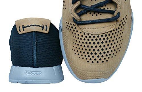 Merrell Mens Pagano Sneakers Sport En Cuir Perforé Respirant Brown Sugar
