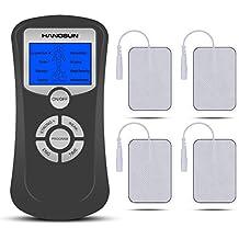 Hangsun Elettrostimolatore Muscolare TM50 masaggio tens doppio Channnel manipolazione di massaggio di agopuntura per il trattamento sollievo dolori dolore alla schiena muscolare con 4 Pad