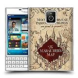 Head Case Designs Offizielle Harry Potter The Marauder's Map Prisoner of Azkaban II Soft Gel Huelle kompatibel mit BlackBerry Passport