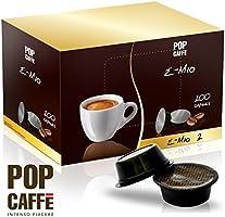 100 CAPSULE POP CAFFE' E-MIO MISCELA 2 CREMOSO COMPATIBILI A MODO MIO ...