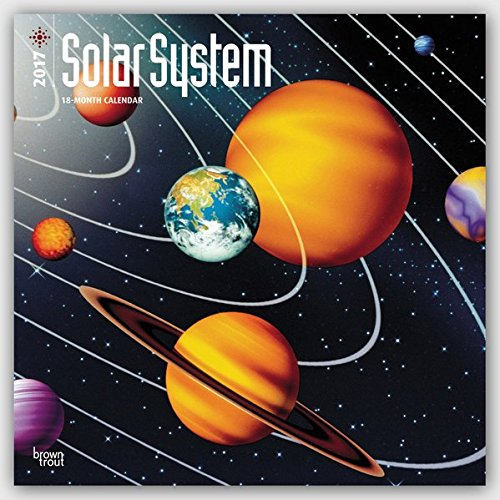 Preisvergleich Produktbild Solar System - Sonnensystem 2017 - 18-Monatskalender: Original BrownTrout-Kalender [Mehrsprachig] [Kalender] (Wall-Kalender)