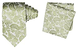 69th Avenue Mens Tie and Pocket Square (Green)