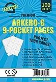 Arkero-G 100x 9-Pocket Pages - speziell für Karten in Standard-Größe - transparente Premium 9er Seiten für Magic & Pokemon Karten