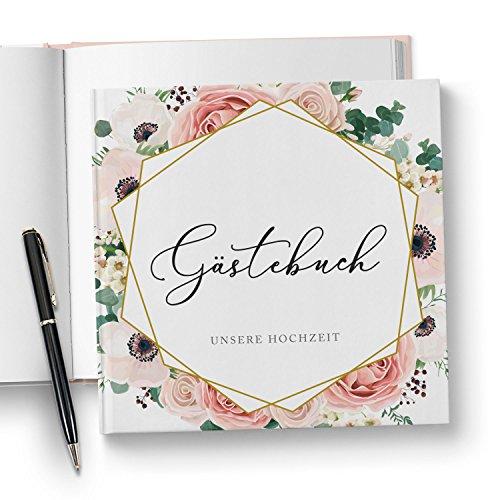 Florales Boho Gästebuch ohne Fragen