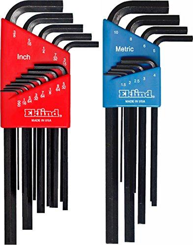 EKL10222 22 St-ck Kombination Lange Hex-L Key Set in Kunststoff-Formteile Holders ()