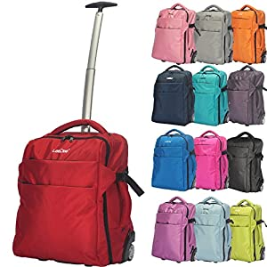 3 in 1 Wheeled Cabin Approved Trolley Travel Bag Flight Backpack Hand Luggage Suitcase Holdall Laptop Bag