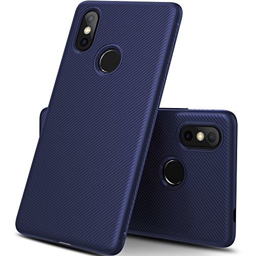 iBetter Xiaomi Mi 8 Funda, Xiaomi Mi 8 Funda Blanda a Prueba de Golpes Nueva, Funda de Silicona TPU Funda Xiaomi Mi 8 para teléfono Inteligente. Azul