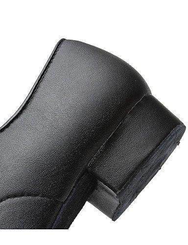 ShangYi Chaussures de danse (Noir) - Non personnalisable - Gros talon - Similicuir - Moderne Black