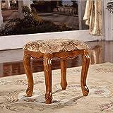 Nimm einen Stuhl Klassischer Schminktischhocker/europäischer Massivholzhocker/pastoraler Schminktisch Barhocker (größe : 47 * 38 * 48)