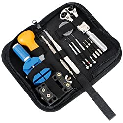 Gearmax® Portable 13pcs Watch Repair Tool Kit & Zip Case Battery Opener Link Remover Screwdrivers Back Remover