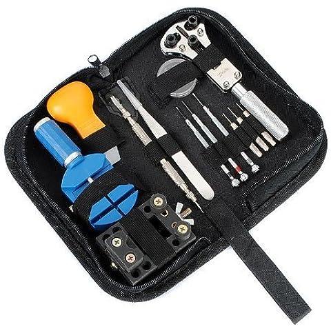 Gearmax® 13 pcs herramientas reparaciones para reloj kit de herramientas de abridor removedor ajustador
