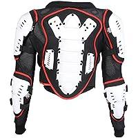 Bianco rosso e nero dei bambini del motociclo corpo giacca armatura