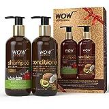 WOW Apple Cider Vinegar Shampoo WOWsome Twosome Hair Care Package, 600ml