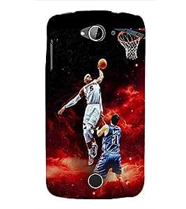 Fuson Premium Basket Ball Printed Hard Plastic Back Case Cover for Acer Liquid Z530