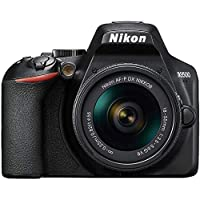 كاميرا دي اس ال ار 18-55 ملم مع عدسة تقليل الاهتزاز 24.2 ميجابكسل من نيكون، ذهبي، D3500 Af-P