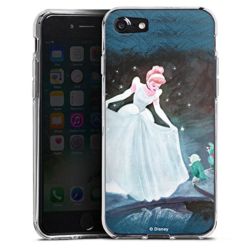 Apple iPhone 7 Plus Hülle Tough Case Schutzhülle Disney Cinderella Merchandise Geschenke Silikon Case transparent