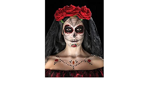 0070b9897a387 Day of the Dead Face Tattoo Transfers Kit: Amazon.co.uk: Toys & Games