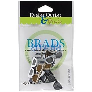 Eyelet Outlet Shape Brads 12/Pkg-Sunglasses - Dark
