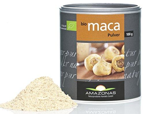 Amazonas Naturprodukte Bio Maca Pulver, In Rohkostqualität, Schonend Verarbeitet