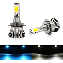 H7 Luces Antiniebla Bombillas 6000K/8000K 2400LM 20W LED Lamparas Blanco Frío,COB Chips