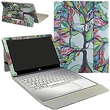 """HP Spectre x2 12 12-a000 Series Funda,Mama Mouth 2-en-1 Portafolio de Cuero Sintético con Soporte y Base de Teclado desmontable para para 12"""" HP Spectre x2 12 12-a000 Series Windows 10 2-in-1 Tablet,Love Tree"""