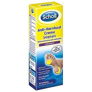Scholl Anti-Hornhaut Creme Intensiv, Creme gegen Hornhaut, Feuchtigkeitscreme für Füße, 2er Pack (2 x 30 ml)