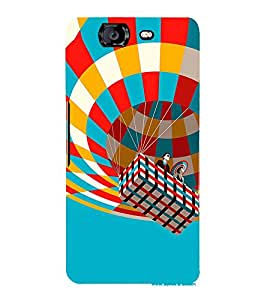 Hot Air Balloon 3D Hard Polycarbonate Designer Back Case Cover for Micromax Canvas Knight A350