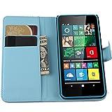 Tasche für Microsoft Lumia 640 Dual-SIM Hülle, Ycloud PU Ledertasche Flip Cover Wallet Case Handyhülle mit Stand Function Credit Card Slots Bookstyle Purse Design blau