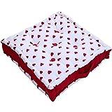 Homescapes Cojín acolchado para Suelo con Patrón de Corazones Color Rojo 50 x 50 cm