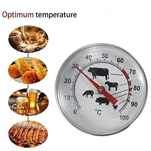 TKSTAR Grillthermometer Nahrungstemperatur Ausgezeichnetes Haushaltswaren-Fleischthermometer Digital-Küchenthermometer Edelstahl BBQ-Zusätze Grill-Fleisch-Thermometer-Skala Temperatur-Messgerät Gage, das Nahrungsmittelprobe-Küchen-Werkzeuge kocht