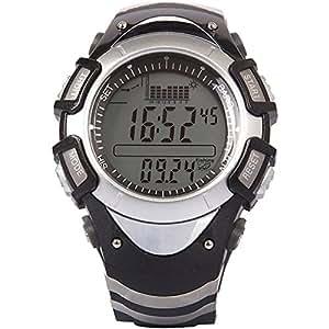spovan® Montre Baromètre Manomètre Altimètre Thermomètre Chrono Météo pour Camping Pêche avec fonction de météo compte à rebours chronomètre réveil avertissement de tempête batterie CR2016(220mAh)