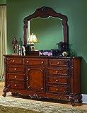 Buffet-con-espejo-madera-maciza-de-estilo-antiguobarrocoLouis-XVXVI-hecho-a-mano