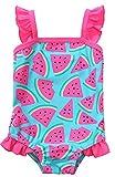Sociala Baby Mädchen Einteiler Badeanzug mit Rock Breite Träger Wassermelonen Print Schwimmanzug Rosa 6-12 Monate