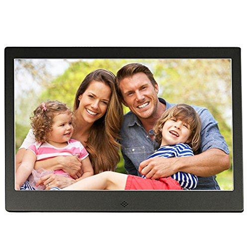 Digitaler Bilderrahmen Full HD 13.3 Zoll Ultradünnes Metallgehäuse Werbung Maschine Fernseher Mikro-Displays Mit Fernbedienung 1280P, Unterstützung Foto, Musik & Video, HDMI - Schnittstelle, HongLanAo® Elektronischer Bilderrahmen Digitaler Album (Schwarz)