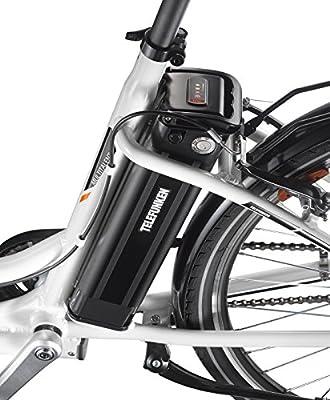 Telefunken E-Bike Damen Elektrofahrrad Alu 28 Zoll mit 3-Gang Shimano Nexus Nabenschaltung, Pedelec Citybike Leicht mit Fahrradkorb, 250W und 10Ah, 36V Sitzrohrakku, RC746 Multitalent