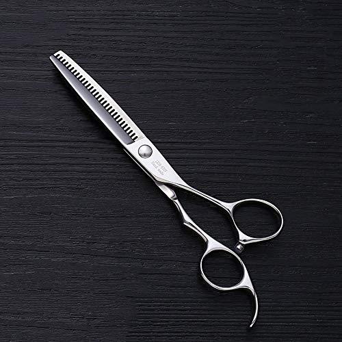 JIAJ Hair Clipper Set di Forbici for Parrucchiere da 6 Pollici for Parrucchiere Forbici for Taglio di Capelli a 30 Denti Tipo V (Colore : Silver)