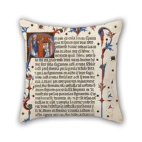 Bestseason Atelier de peinture à l'huile de Ferer Bassa–Port Cérémonial de Consécration et couronnement des rois et Reines d'Aragon Taie d'oreiller, le meilleur pour salle d'étude, canapé, enfants filles, elle, Sol, Coup