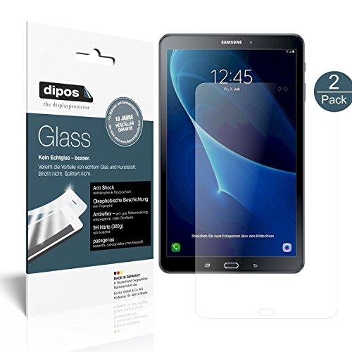 dipos I 2X Panzerfolie matt passend für Samsung Galaxy Tab A 10.1 (2016) Schutzfolie 9H Bildschirmschutz-Folie
