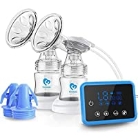 Bellababy Double Electric Breast Pumps Can Switch to Single Breast Pump Pain Free Strong Suction Power Touch Panel High Definition Display