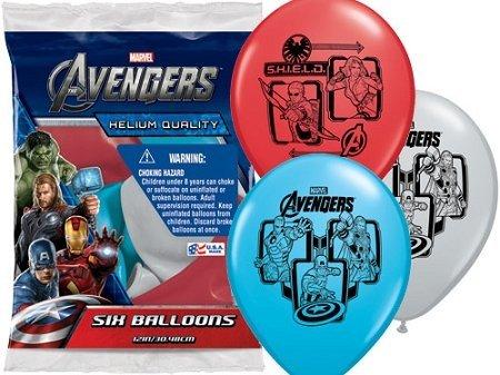 The Avengers Hulk Iron Man Superhero Birthday Asst 12 Latex Party Balloons 6pk