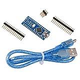 ELEGOO Carte Nano V3.0 Micro Contrôleur Module Board CH340 ATmega328P avec Câble USB Bleu pour Arduino DIY