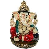 Morpankh Art Vastu Fengshui Religious Idols Of Lord Ganesh Premium Statue, Best Choice For Car Dashboard Decor Showpiece (H:9 Cm X W:6.5 Cm X D:6 Cm)