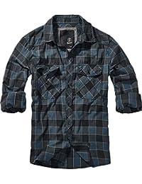 Brandit Checkshirt Longsleeve Blue-Grey-Black 7bb4b2ad8d
