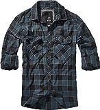 Brandit Checkshirt Langarmhemd blau/grau/schwarz M