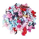 Candygirl Baby Kinder Mädchen Elastische Haargummis Pferdeschwanz Inhaber Haarbänder Haar Elastische Wert Set (50 verschiedene design)