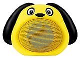 iCutes Tier Bluetooth Lautsprecher Dog (Mini Kinder Lautsprecher Box in tierischem Design & Freisprechfunktion) Gelb
