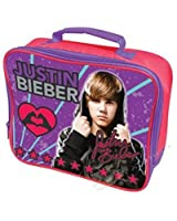 Girls Boys Kids Teeny Bopper Genuine Justin Bieber Pop Singer Merchandise Purple School Lunch Bag Pink Purple Red